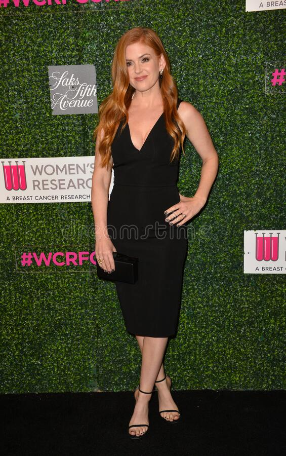 Isla Fisher. LOS ANGELES, CA - FEBRUARY 16, 2017: Isla Fisher at the arrivals for An Unforgettable Evening, to benefit the Women's Cancer Research Fund, at The stock photos