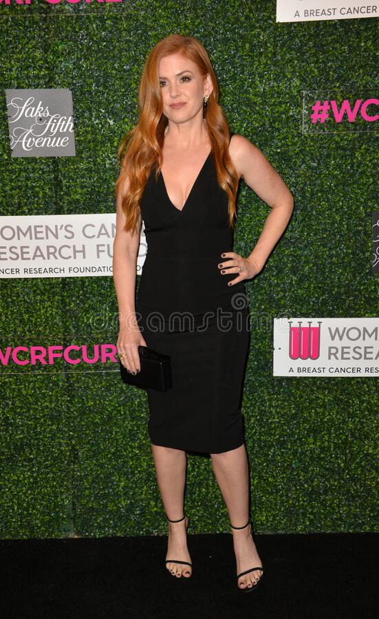 Isla Fisher. LOS ANGELES, CA - FEBRUARY 16, 2017: Isla Fisher at the arrivals for An Unforgettable Evening, to benefit the Women's Cancer Research Fund, at The royalty free stock images
