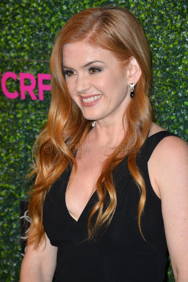 Isla Fisher. LOS ANGELES, CA - FEBRUARY 16, 2017: Isla Fisher at the arrivals for An Unforgettable Evening, to benefit the Women's Cancer Research Fund, at The royalty free stock photography