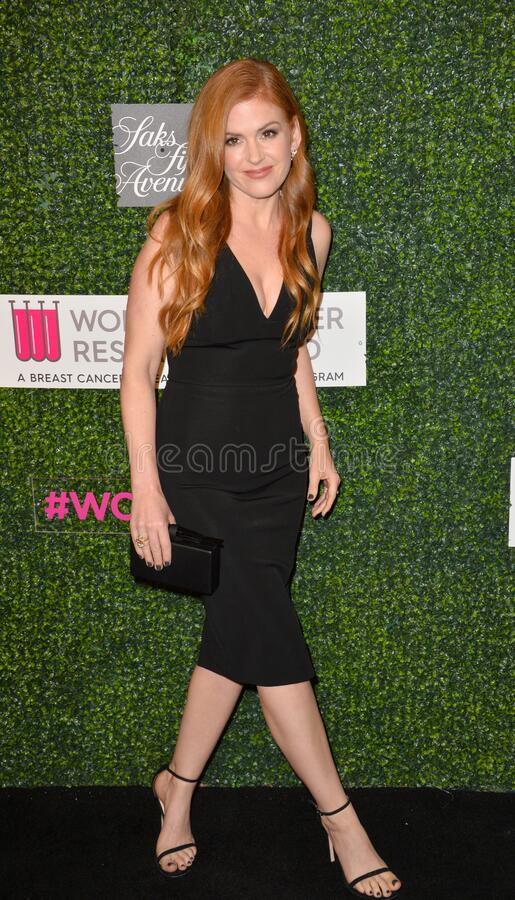 Isla Fisher. LOS ANGELES, CA - FEBRUARY 16, 2017: Isla Fisher at the arrivals for An Unforgettable Evening, to benefit the Women's Cancer Research Fund, at The royalty free stock photos