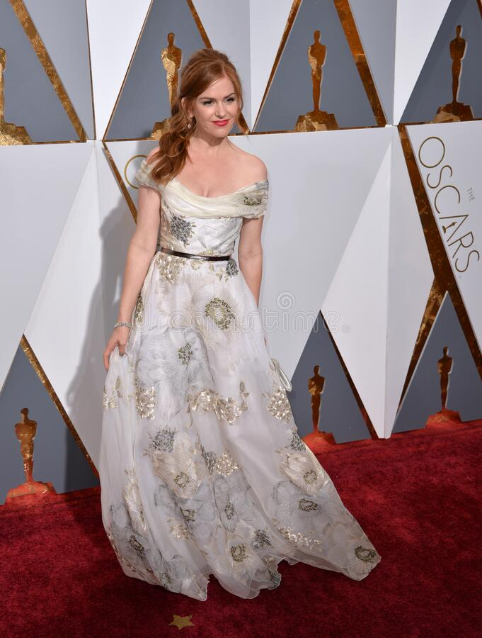 Isla Fisher. LOS ANGELES, CA - FEBRUARY 28, 2016: Isla Fisher  at the 88th Academy Awards at the Dolby Theatre, Hollywood royalty free stock images