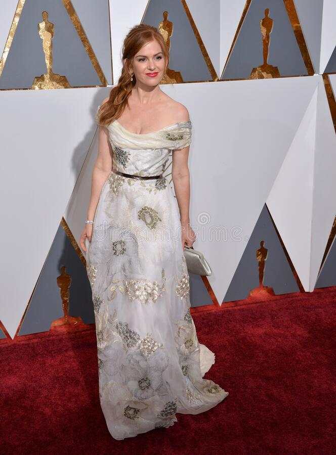 Isla Fisher. LOS ANGELES, CA - FEBRUARY 28, 2016: Isla Fisher  at the 88th Academy Awards at the Dolby Theatre, Hollywood royalty free stock photo