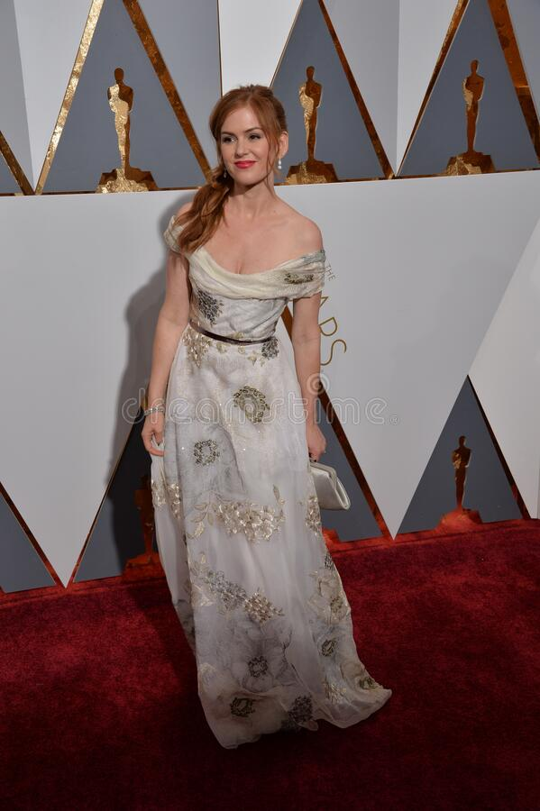 Isla Fisher. LOS ANGELES, CA - FEBRUARY 28, 2016: Isla Fisher  at the 88th Academy Awards at the Dolby Theatre, Hollywood royalty free stock photos