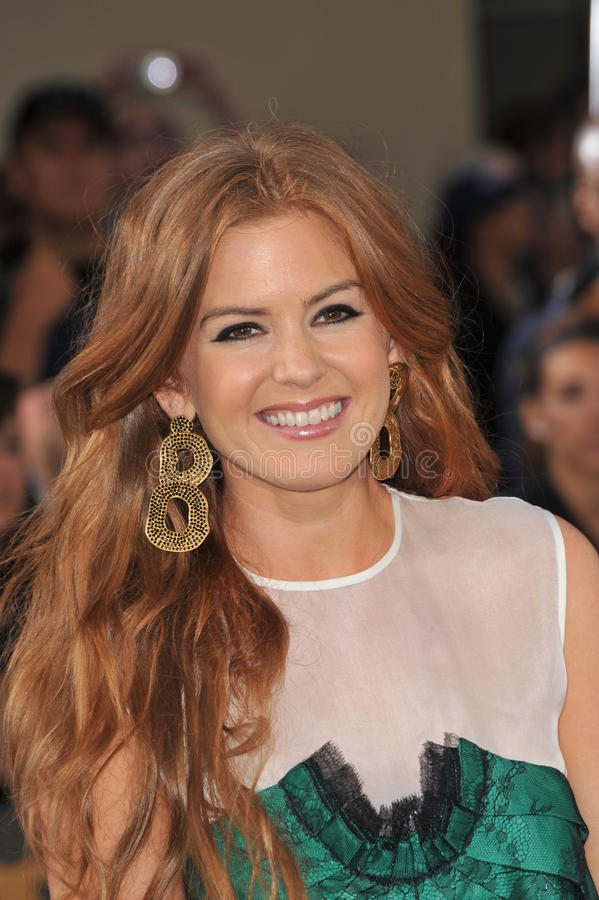 Isla Fisher. At the Los Angeles premiere of her husband, Sacha Baron Cohen's new movie 'BrŸno' at Grauman's Chinese Theatre, Hollywood. June 25, 2009 Los royalty free stock image