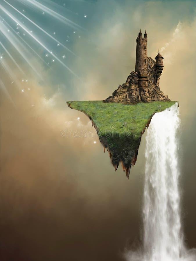 Isla flotante ilustración del vector