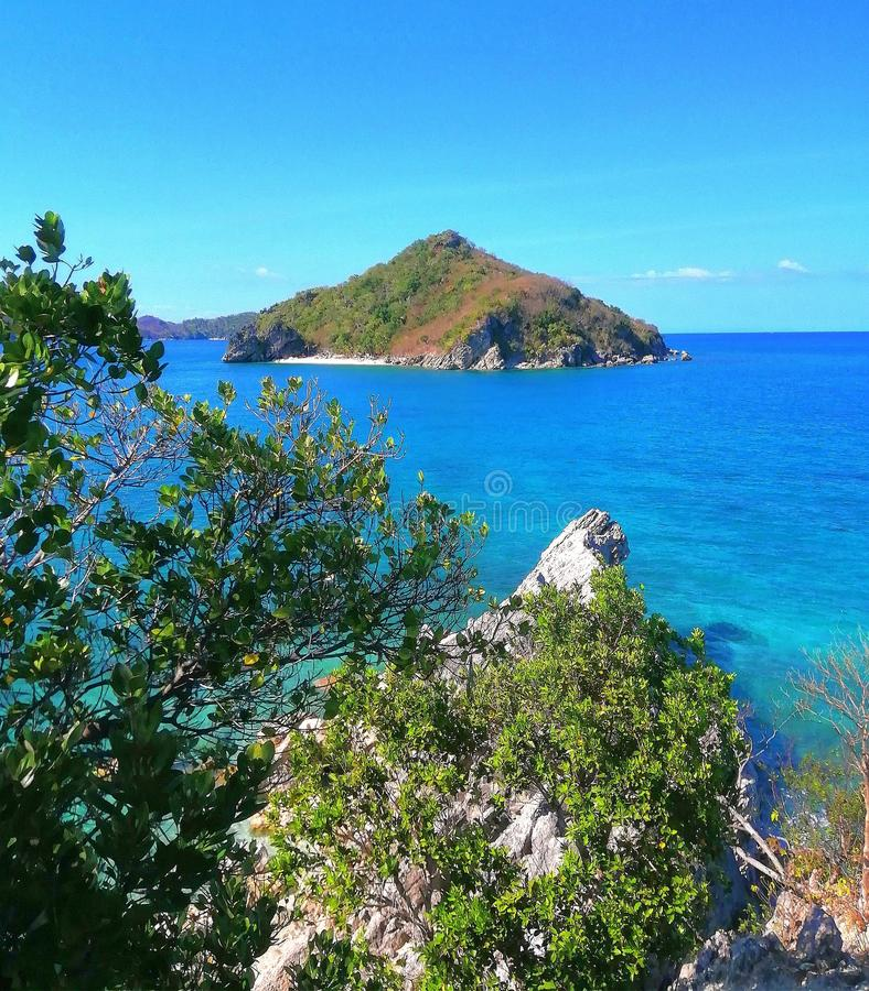 Isla Gigantes, Carles, Iloilo, Филиппины стоковое фото