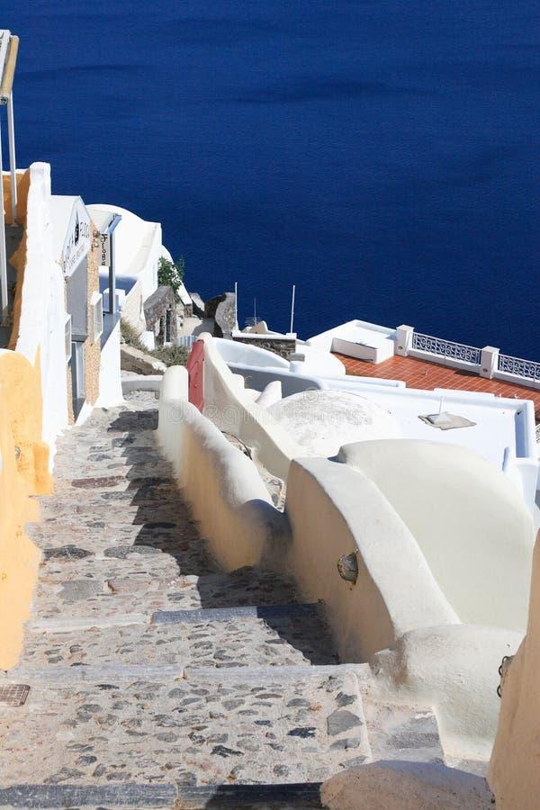 Isla Grecia de Santorini imagenes de archivo