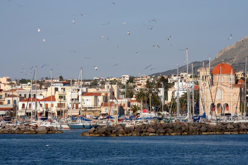 Isla griega Aegina foto de archivo libre de regalías
