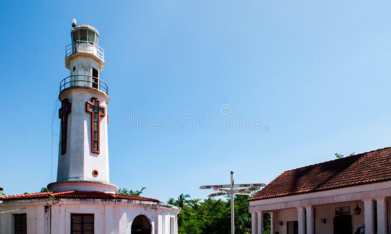Isla histórica de Corregidor del faro del monumento de guerra del Pacífico, Mani fotografía de archivo