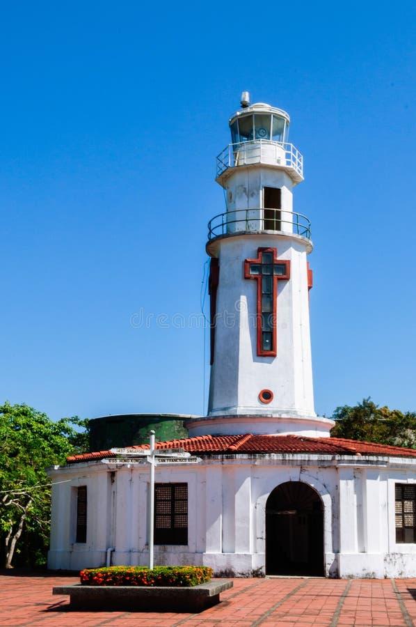 Isla histórica de Corregidor del faro del monumento de guerra del Pacífico, Mani imagen de archivo