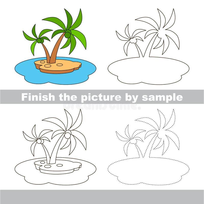 Isla Hoja de trabajo del dibujo libre illustration