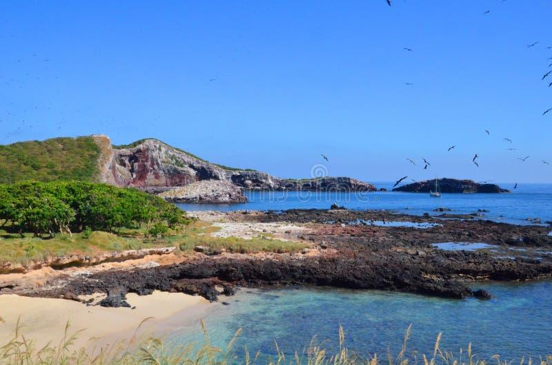 Isla Isabel van de kust van Mexico's Riviera Nayarit stock foto