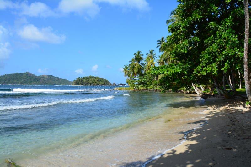 Isla Mamey i Panama i det karibiska havet royaltyfri bild