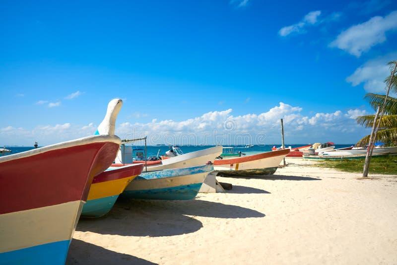 Isla Mujeres海岛加勒比海滩墨西哥 库存图片