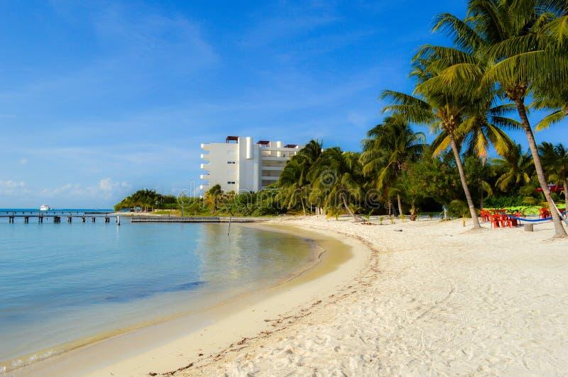 Isla Mujeres Beach Mexico arkivbild