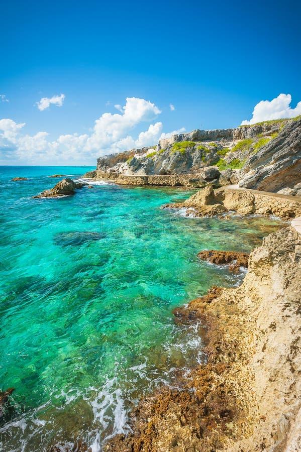 Isla Mujeres, de mening van Mexico royalty-vrije stock fotografie