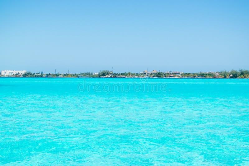 Isla Mujeres-eiland Caraïbisch strand van Riviera Maya royalty-vrije stock foto's