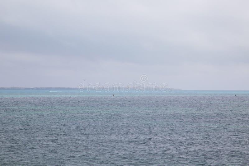 Isla Mujeres gesehen von der Fähre, Cancun, Mexiko stockbilder