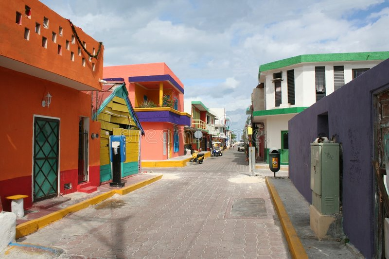 Isla Mujeres Street stock photo