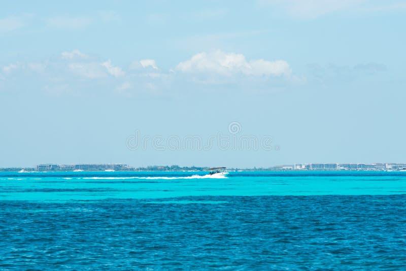 Isla Mujeres wyspy Karaiby plaża Riviera majowie obraz stock
