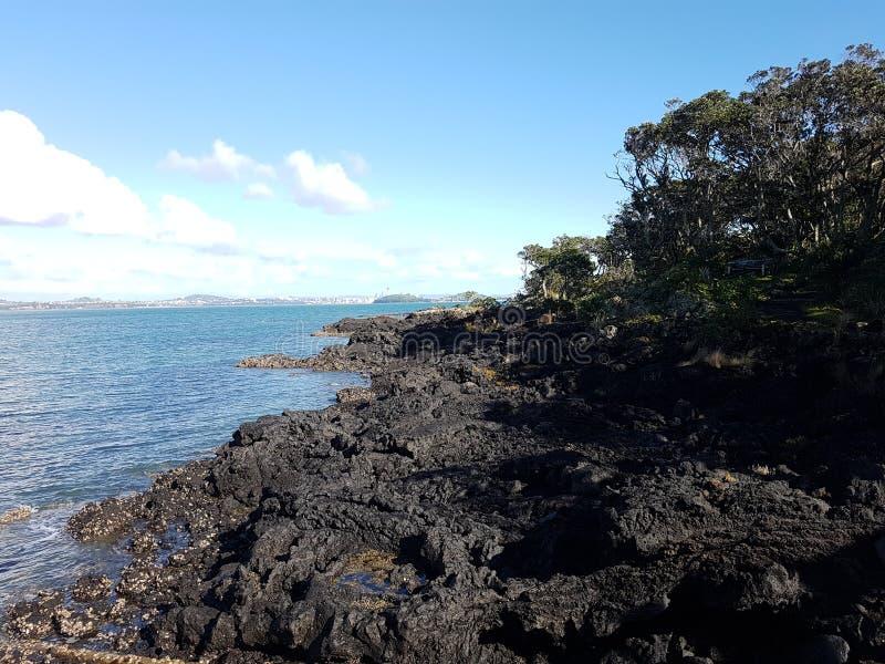 isla Nueva Zelandia del vulcano fotografía de archivo