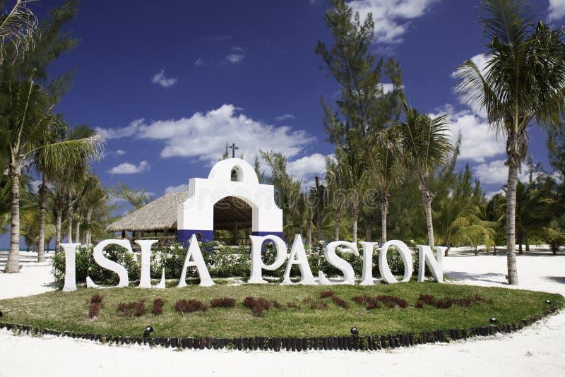 Isla Pasion, Cozumel México fotografia de stock royalty free