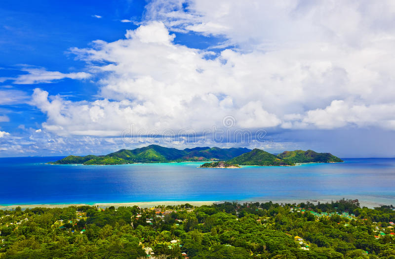 Isla Praslin en Seychelles imagen de archivo
