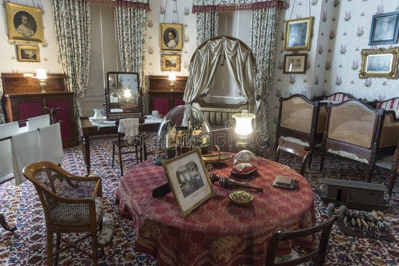 Isla real de la casa de Osborne del cuarto de niños del Wight imágenes de archivo libres de regalías