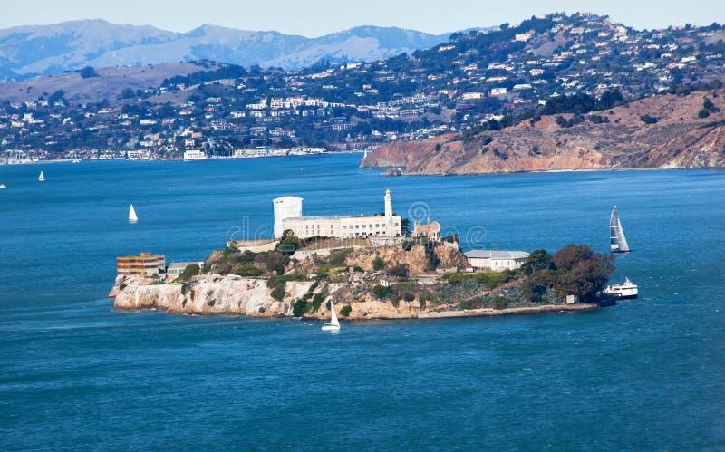 Isla San Francisco California de Alcatraz imagen de archivo