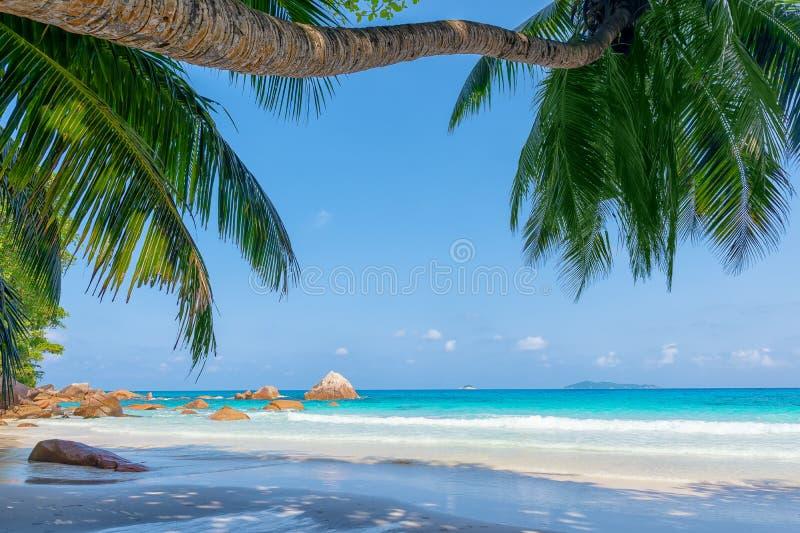 Isla Seychelles de Praslin imagenes de archivo