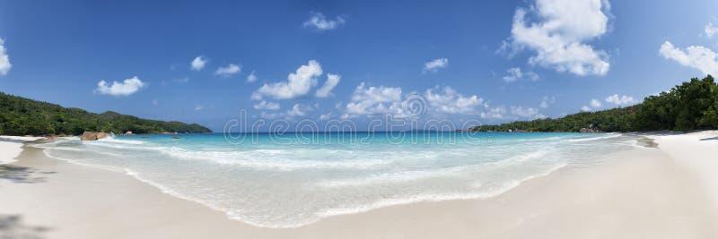 Isla Seychelles del praslin de la playa de Anse Lazio imágenes de archivo libres de regalías