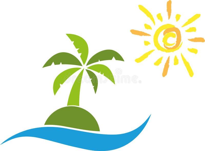 Isla, Sun, palmera, viaje libre illustration