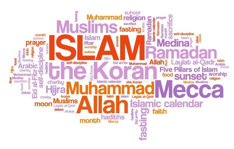 islam royaltyfri illustrationer