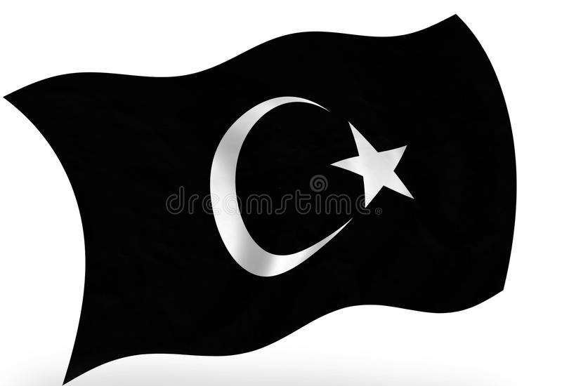 Islam. Abstract islam flag on the white royalty free illustration