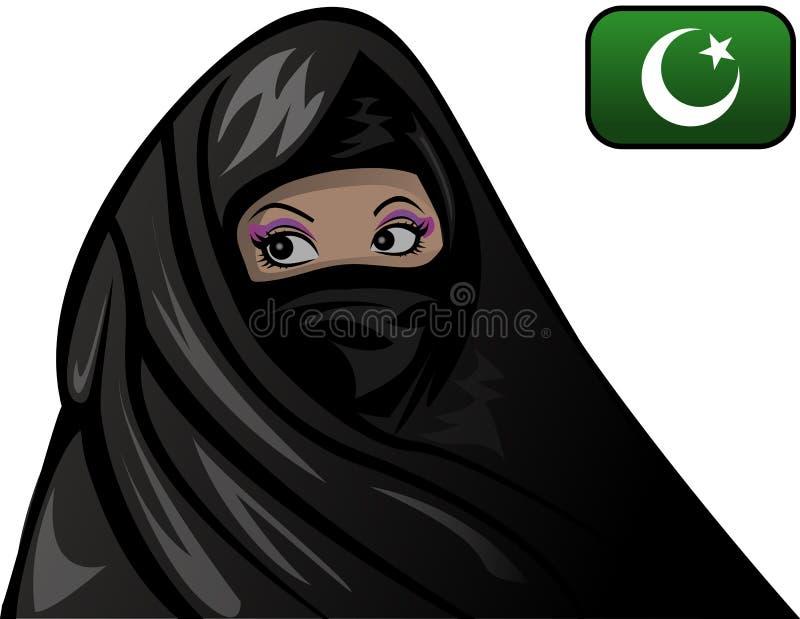 Islam-Frau lizenzfreie abbildung