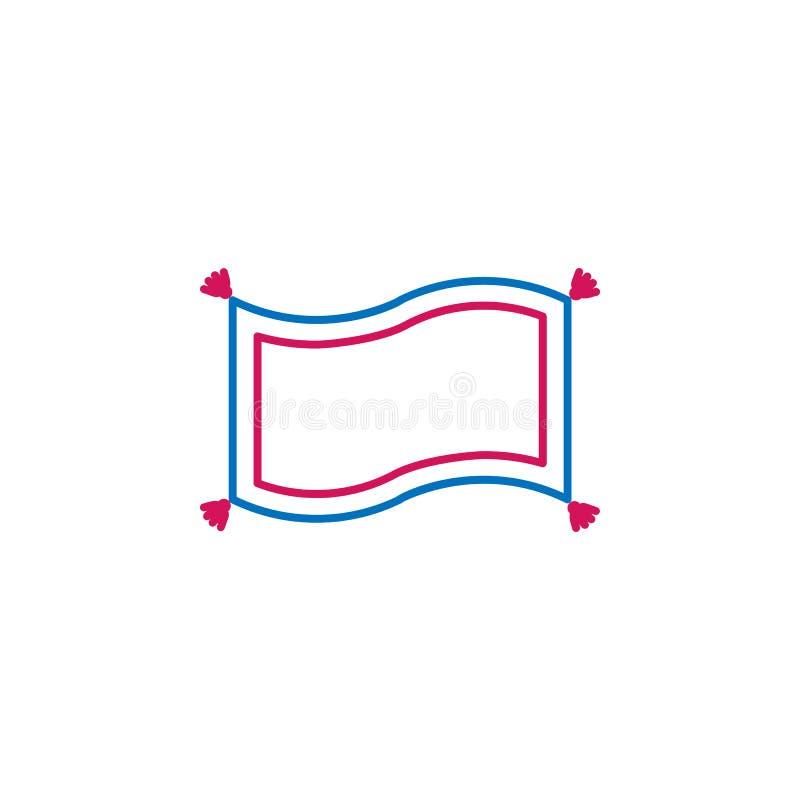 Islam, linea colorata icona del tappeto 2 magici Illustrazione blu e rossa semplice dell'elemento Islam, simbolo magico del profi illustrazione vettoriale