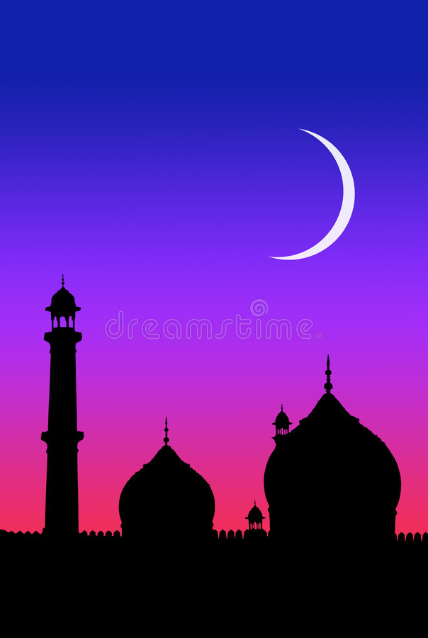 Islam moon stock illustration