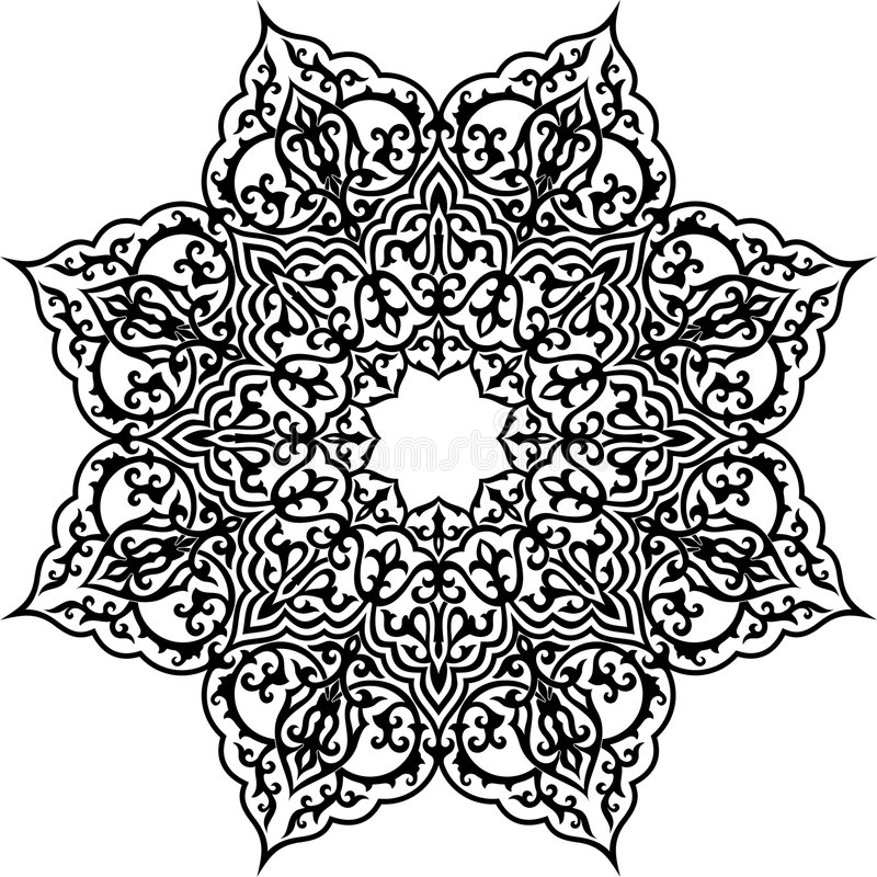 Islam pattern. Vector illustration of Arabic geometric ornament