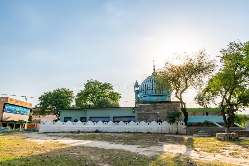 Islamabad Darbar Peer Fazal Din 155. Islamabad Darbar Peer Fazal Din Mosque Tomb Picturesque Breathtaking View on a Sunny Blue Sky Day royalty free stock photos