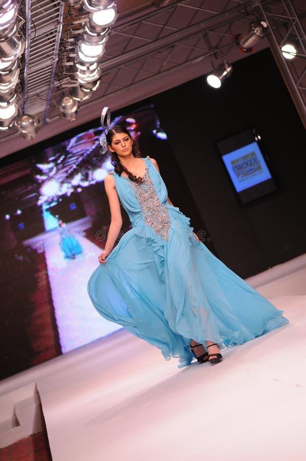 islamabad för 2011 mode vecka arkivbild