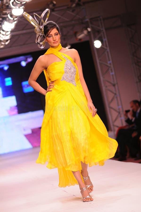islamabad för 2011 mode vecka arkivbilder
