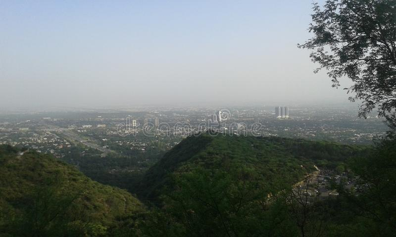Islamabad miasta widok zdjęcia stock