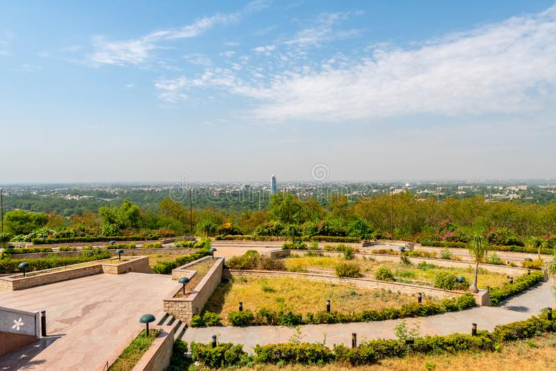 Islamabad Pakistan National Monument 40. Islamabad Pakistan National Monument Picturesque View of Cityscape on a Sunny Blue Sky Day royalty free stock photography