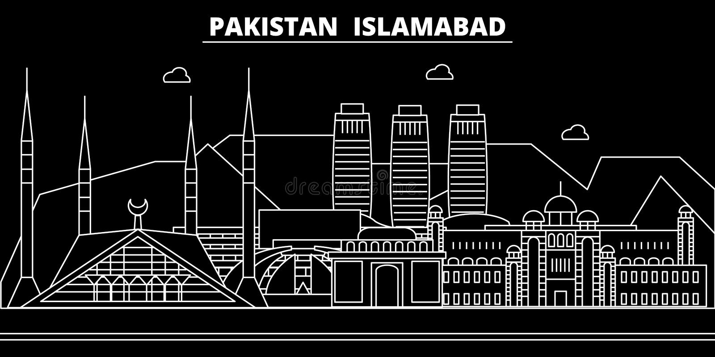 Islamabad silhouette skyline. Pakistan - Islamabad vector city, pakistani linear architecture, buildings. Islamabad. Line travel illustration, landmarks vector illustration