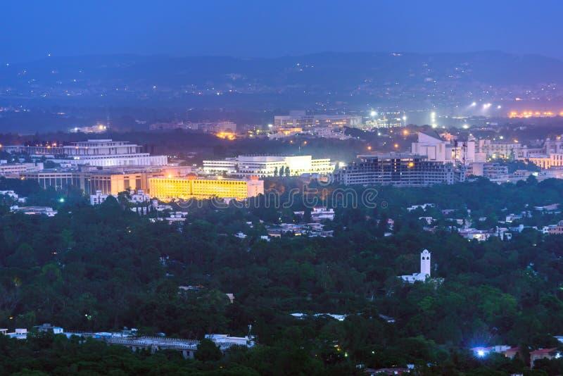 Islamabad Skyline Paquistão fotos de stock royalty free