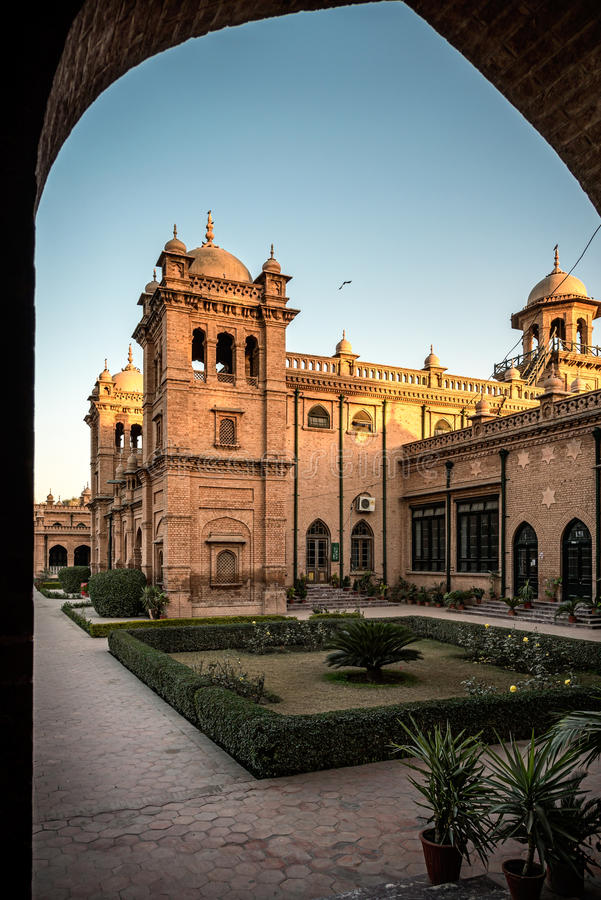 Islamia College Peshawar Pakistan stock photography