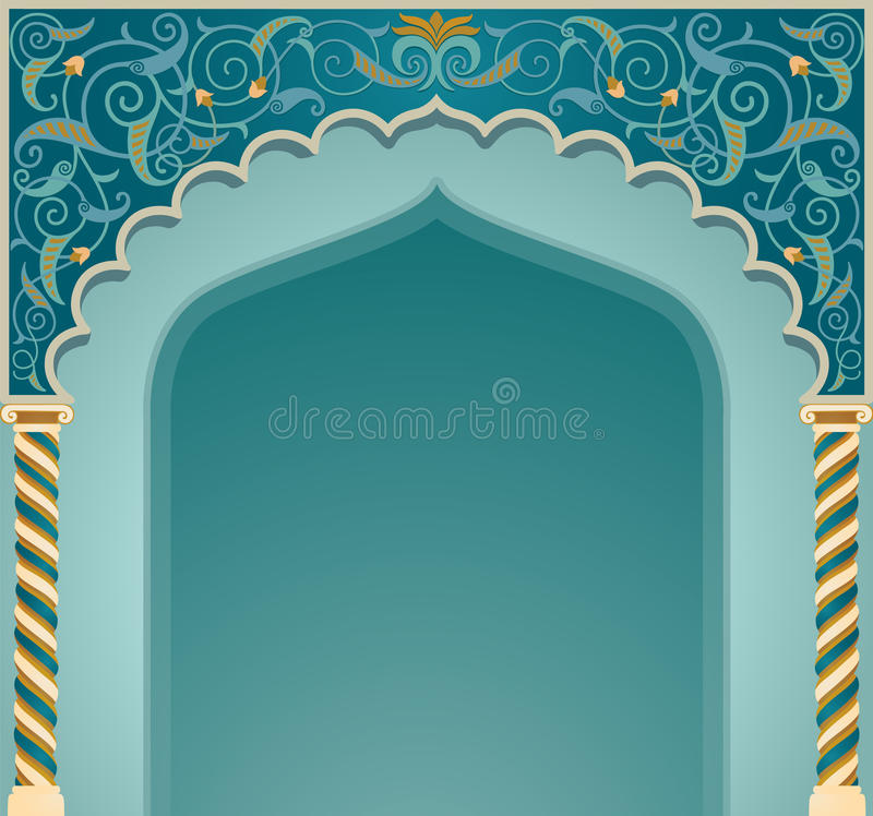 Download Islamic arch design stock vector. Illustration of background - 34574866