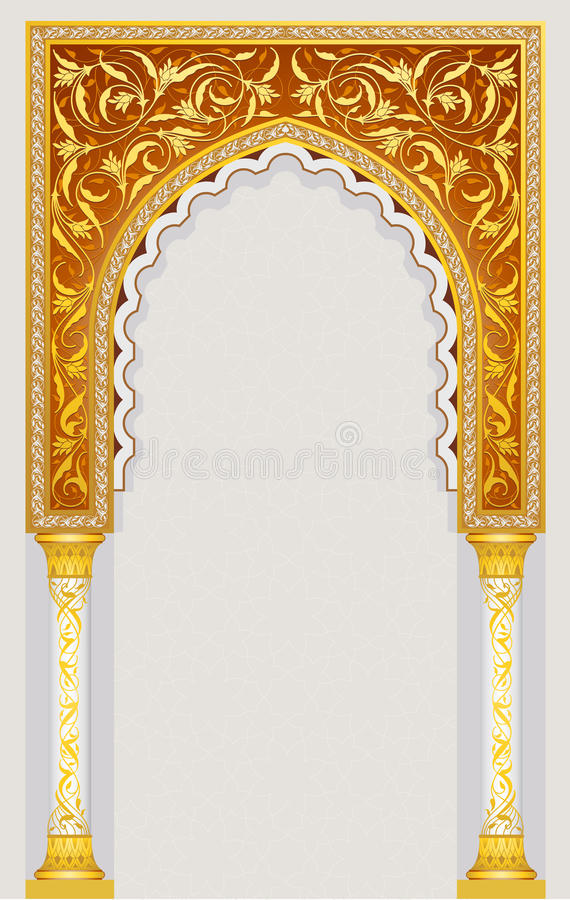 Islamic art arch. High detailed islamic arch design in vector illustration