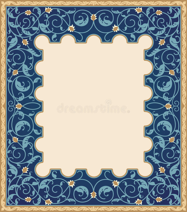Islamic art frame royalty free illustration