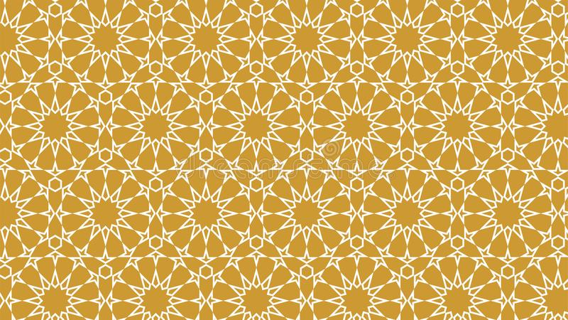 Islamic Background With Intertwined Stars And Beautiful Colors Of Gold And  White Stock Vector - Illustration Of Graphic, Intertwined: 112288945